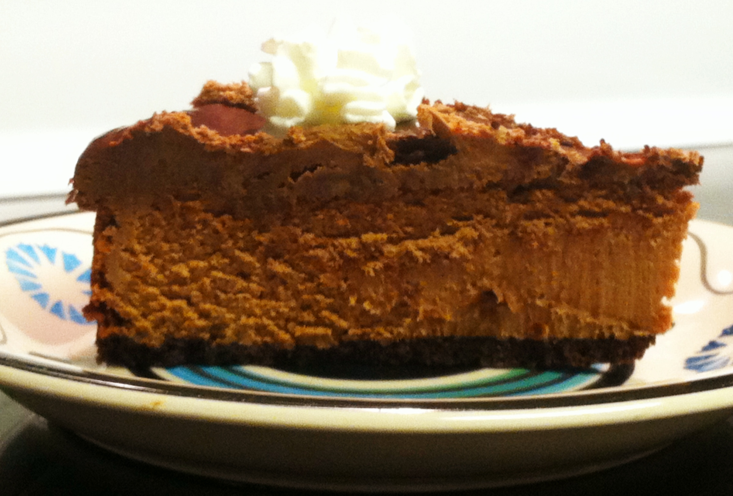 Gluten-Free Deep Dark Chocolate Cheesecake: Just Yum. 'Nough Said