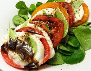 Caprese Salad with Chocolate Balsamic Vinegar
