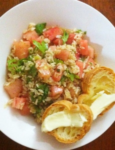 watermelon rice salad