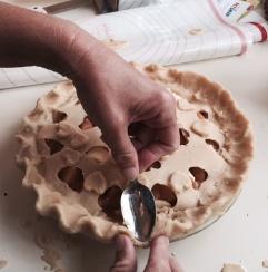 smoked peach pie